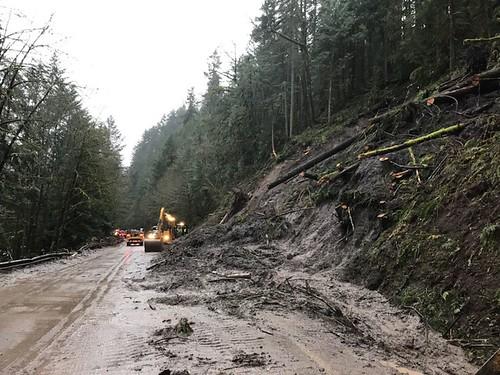 Landslide on OR 58
