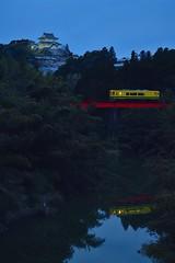 大多喜城といすみ鉄道 (龔丸) Tags: 大多喜城 いすみ 房総 千葉 関東 鉄道 railway flickrtravelaward 夜 水鏡