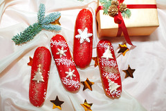 Red eclairs (Yulchonok) Tags: christmas food dessert 50mm composition holiday