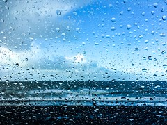 Rainy day at the coast (Wouter de Bruijn) Tags: apple iphone iphonese coast coastal sea ocean water sky clouds weather nature outdoor landscape seascape blue bokeh depthoffield westkapelle veere walcheren zeeland nederland netherlands holland dutch northsea