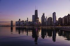 Purple View from North Avenue (rjseg1) Tags: chicago lakefront northavenue skyline hancock purple lakemichigan