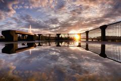Fin du jour sur le vieux port de Chicoutimi (gaudreaultnormand) Tags: canada chicoutimi ciel coucherdesoleil port quebec reflections reflets rivière saguenay sky sunset
