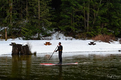 Buntzen Lake, Anmore, BC (SonjaPetersonPh♡tography) Tags: buntzenlake anmore portmoody bc britishcolumbia canada nikon nikond5300 landscape waterscape lake water recreation fishing kayaking paddleboarding boatshed floatingwharf wharf snow winter 2019 serene scenery scenic forest trees trails