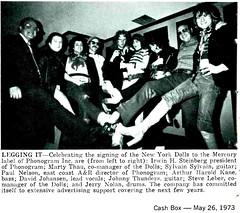 New York Dolls Legging It (80snyradioscrapbook) Tags: rock punk article 1973 newyorkdolls
