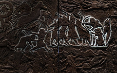 Projected illuminations (PChamaeleoMH) Tags: assyrian britishmuseum exhibition frieze london museum relief