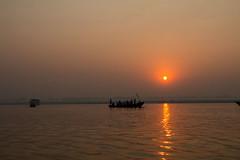The Ganges river at Varanasi (irisnoack) Tags: ganges holy river boat sunrise india varanasi