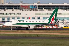 EI-RDD Alitalia CityLiner Embraer ERJ-175-200LR (buchroeder.paul) Tags: eddl dus dusseldorf international airport germany europe ground dusk eirdd alitalia cityliner embraer erj175200lr