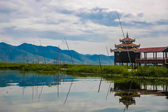Inle Lake, Myanmar, January 2019 (Etienne Gab) Tags: inle inlay lake lac monastery monastère monk buddhist bouddhisme bouddha water sky moine bouddhiste phaung daw oo u pagoda pagodas pagode pagodes statue buddha buddhas myanmar birmanie burma bamar shan state shanstate asia asie canon canonef2470mmf28lusm 5d markiii mark iii wood gold golden bois flotting pilotis tourism travel voyage dry season