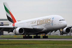 A6-EDL, London Heathrow, May 15th 2015 (Southsea_Matt) Tags: a6edl emirates airbus a380861 unitedkingdom greaterlondon england londonheathrow egll lhr may 2015 spring canon 30d aircraft aviation plane airliner passengertravel publictransport vehicle