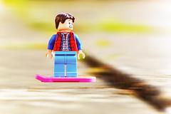 LEGO Marty McFly and Hoverboard (weeLEGOman) Tags: lego back future marty mcfly movie movies film pink hoverboard motion minifigure minifigures toy toys macro photography uk nikon d7100 rob robert trevissmith weelegoman