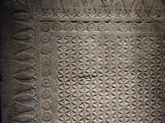UK - London - Bloomsbury - British Museum - Stone slab from north palace at Ninevah replicating Assyrian carpet design (JulesFoto) Tags: uk england london britishmuseum assyria