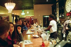 Coffee Bar (tarkushoo) Tags: film 135 kodak 200 bar night club coffee people restaurant blur nikon nikkor manual dof nikonfg
