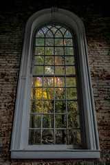 "between ghosts (listening to ""lux aeterna"", clint mansell) (haint_blue) Tags: canon mississippi rodney rodneyms ghosttown church window windowwednesday rural decay trees fall autumn forest woods"