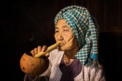 Myanmar (mokyphotography) Tags: birmania myanmar burma canon woman oldwoman travel tribe tribù viso village villaggio face people portrait persone picture photographer ritratto reportage ritratti