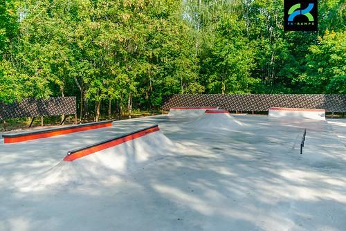 Concrete skatepark in Ivanteevka, Moscow area   Бетонный скейт парк в Ивантеевке, Московская область ©  fkramps