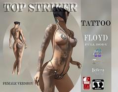 TOP STRIKER FLOYD TATTOO FEMALE (Top Striker) Tags: colbiehill topstriker commotionevent roymildor tattoo male female unisex