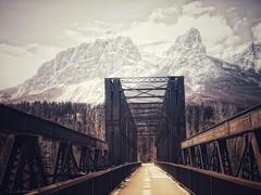 Beckoning (Edna Winti) Tags: eastendofrundle bowriver alberta ednawinti canmore mountains winter snow enginebridge