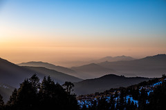Sunrise from the Pun Hill (Wild Atlantic Photos) Tags: nepal sunrise landscape hills mountains trees
