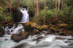 Mouse Creek Falls (Waterfall Guy) Tags: waterfall mouse creek falls great smoky mountains national park north carolina
