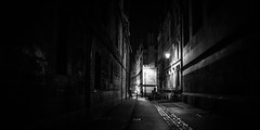 23,024 (Panda1339) Tags: oxford oxforduniversity nightmode monochrome cinematic streetphotography 28mm grainy blackandwhite uk light brasenoselane