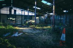 YOLO Barn (Interior) (nigdawphotography) Tags: derelict barn grafiti corrugatediron urbex gernonbushes coopersale essex interior