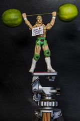 Billy says... (Paul B0udreau) Tags: wah favoat nikkor50mm18 photoshop canada ontario paulboudreauphotography niagara d5100 nikon nikond5100 raw naturallight wrestler figurine actionfigure lime sign