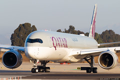Qatar Airways  Airbus A350-1041 cn 125 A7-AND (Clément Alloing - CAphotography) Tags: qatar airways airbus a3501041 cn 125 a7and barcelona airport barcelone lebl bcn canon 100400 spotting aeropuerto airplane aircraft 25r 07l balcon t1 flight aeroplane engine sky ground take off landing 1d mark iv