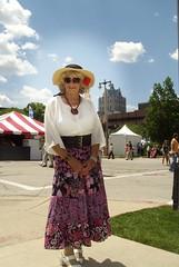 Bastille Days, 2011 (Laurette Victoria) Tags: hat blouse skirt belt sunglasses laurette woman milwaukee bastilledays