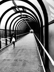 New Look (Jonathan Vowles) Tags: mono shopping bromley walking bag tunnel