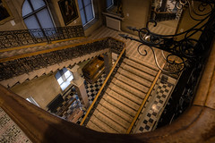 The staircase (tonguedevil) Tags: indoor inside building architecture museum stairs staircase windows mirrors colour light shadows barnardcastle teesdale
