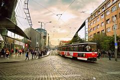 Prague Street. (Manoo Mistry) Tags: prague pragueczechrepublic europe nikon nikond5500 tamron18270mmzoomlens tamron street streetphotography trams sky buildings