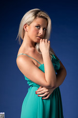 Velvety blue (tnekralc) Tags: velvety blue model sarlottka sexy sex green blonde head hair face eyes mouth lips neck shoulder arms hands cleavage