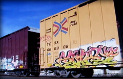(timetomakethepasta) Tags: voc freight train graffiti art ttx boxcar tbox