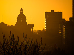 New Lens Who Dis (Daveography.ca) Tags: edmonton urban sunset dusk alberta albertalegislature buildings canada legislature skyline city downtown