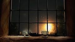 Every journey has a beggining... (Serene Mountain) Tags: rainonwindow rain window light night candles composition composite layered chuva chuvia nightlights lights relax sleep relaxing relaxar ambiance