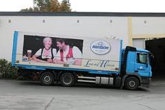 Aldersbach: LKW der Brauerei Aldersbach (Helgoland01) Tags: aldersbach bayern bier kloster brauerei beer werbung advertisement lkw truck man niederbayern