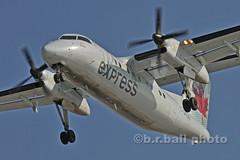 BRB_6561cesn c (b.r.ball) Tags: brball yyz torontopearsoninternationalairport aviation cgkon dehavilland dhc8102 aircanadaexpress ac7982 runway24r