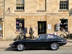 A Beautiful Jaguar XKE - Shiny and Black (KVSE) Tags: black shiny jaguar xke uk burford cotswolds 53 12cylinder jaguarxke
