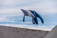 Laundry Day (suzanne~) Tags: laundry clothesline roof sky vejer andalusia spain puebloblanco