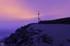 The Lost City (alundisleyimages@gmail.com) Tags: newbrighton beach night longexposure beacon groyen rocks rivermersey tide liverpool wirral merseyside fog weather maritime shipping sand water banks serenity peaceful england uk seascape shoreline ports harbours