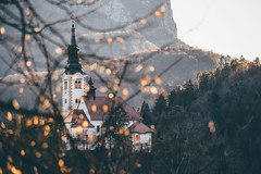 Autumn in December (freyavev) Tags: lakebled bled lake island church telelens zoom slovenia slovenija hiking autumn branches hills nature vsco canon canon700d outdoor