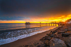 Nikon D850 Malibu Pier Sunset Fine Art California Coast Beach Landscape Seascape PCH Photography! Nikon D850 & AF-S NIKKOR 14-24mm F2.8G ED from Nikon! High Res 4k 8K Photography! Dr. Elliot McGucken Fine Art Pacific Ocean Sunset! (45SURF Hero's Odyssey Mythology Landscapes & Godde) Tags: nikon d850 malibu pier sunset fine art california coast beach landscape seascape pch photography afs nikkor 1424mm f28g ed from high res 4k 8k dr elliot mcgucken pacific ocean