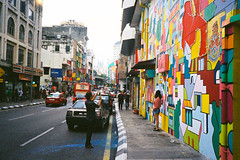 (Hem.Odd) Tags: colorful malaysia kualalumpur olympusxa3 expired fujifilm xtra800 graffiti wallpainting