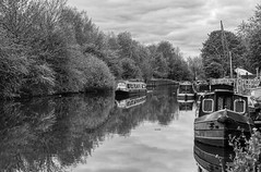 IMGP0197 copy- on1 (douglasjarvis995) Tags: 1770 k3 pentax canal boat mono monochrome travel barge bnw landscape water