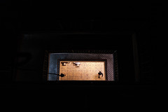 down (㋡ Aziz) Tags: geometry cool fujifilm xt2 istanbul inside light contrast dark color yellow blue black people movie stairs minimal minimalism 16mm composition street city new
