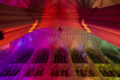 Seeing Deeper at Washington National Cathedral (jtgfoto) Tags: approved washingtonnationalcathedral seeingdeeper cathedral lights colors rainbow architecture architecturalphotography washingtondc leadinglines perspective sonyalpha sonyimages lightandshadows colorful