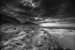 """ MAGICAL LIGHT "" (Wiffsmiff23) Tags: heritagecoastlinesouthwales southwales traethmawr traeth beach reflections dramatic drama monochrome"