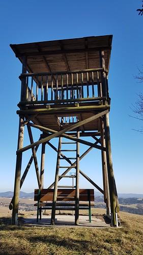 Am Walderlebnisweg Gschaidt - Aussichtswarte mit Blick in drei Bundesländer