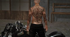 Demon Rider (Paulus Woller) Tags: endlesspaintattoos tattoo men male guy biker