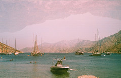 0072-0300-08 (jimbonzo079) Tags: palionnisos beach sea coast kalymnos island dodecanese 2018 land landscape aegean seascape greece mountain canon ae1 fd 50mm f18 135mm f25 lens konica minolta vx100 super expired trip travel world europe analog film 35mm 135 color colour art vintage old hellas ελλάσ ελλάδα summer people vacation water yacht boat ship canonae1 fd50mmf18 fd135mmf25 konicaminoltavx100super konicaminoltavx konicaminoltavx100 konicavx100 expiredfilm doubleexposure